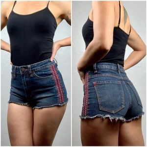 Urban outfitters BDG highwaist embroidered shorts